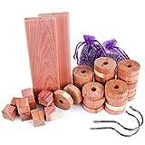 Repelente de polilla de madera de cedro, paquete de 50 bolsas de lavanda de bolas de polil...