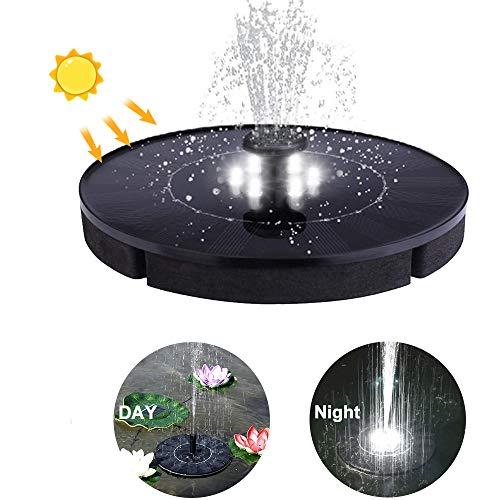 WXJHA Bomba de Fuente Solar, Fuente Flotante al Aire Libre del círculo del LED, Bomba de Agua Miniatura del jardín, decoración casera del jardín