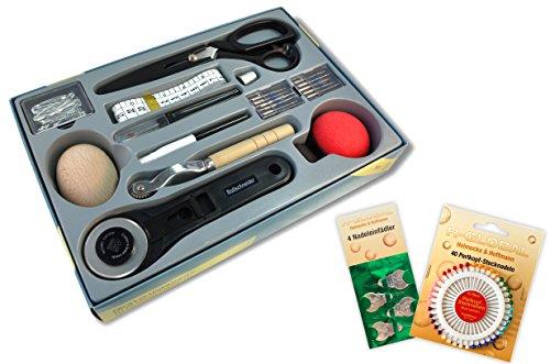 * Profi-Schneiderset 155-teilig | Umfangreiches Schneiderzubehör für den Zuschnitt, für die Nähmaschine, zum Nähen, zum Stopfen und Feststecken
