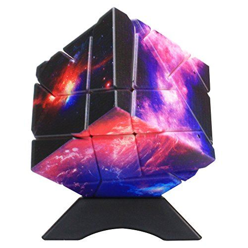 Twister.CK Ghost Cube 3x3,3x3 Speed Cube Stickerless,Creative Magic Puzzle Cube with Unique Starry Sky Pattern Twist Puzzle Adult Kids Educational Toy