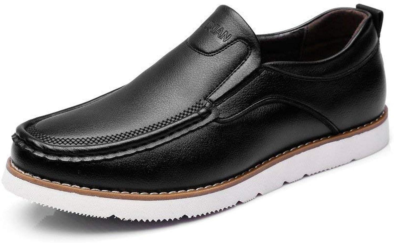 2018 Herren Freizeitschuhe PU Leder Oxfords Low Low Low Top Loafers für Herren (Farbe   Schwarz, Größe   39 EU) (Farbe   Schwarz, Größe   44 EU)  2f6805