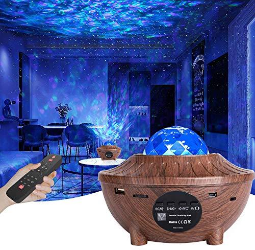 LED Proiettore Cielo Stellato Lampada, Proiettore a Luce Stellare, Proiettore Stellato Bluetooth, LED Luce Rotante Nebulosa con Timer e Telecomando, per Bambini Adulti Regalo Decorazioni
