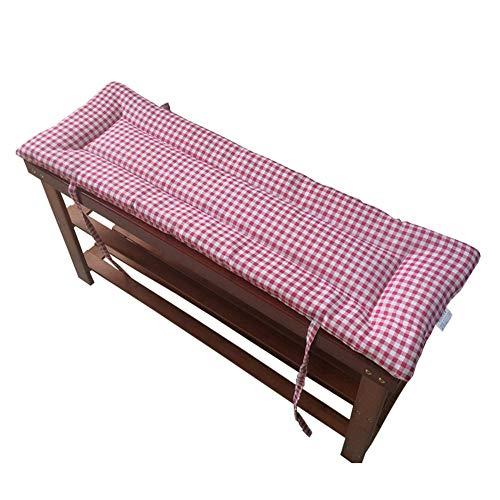 Xiaoyan - Cojín de banco de jardín, 2 o 3 plazas, cojín largo con lazos de fijación, 2 cm de grosor, lavable, ultra cómodo y duradero