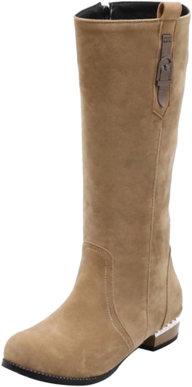 TAOFFEN Women's Mid Boots Zipper