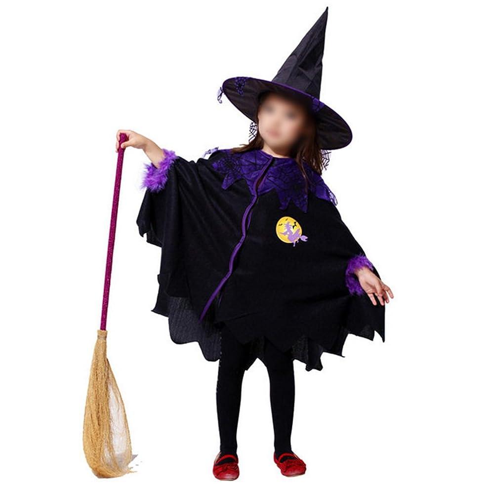 ルーチン周術期つかまえるBESTOYARD 子供ハロウィンコスプレ衣装コスプレドレスアップ帽子とクローク(ブラックL)