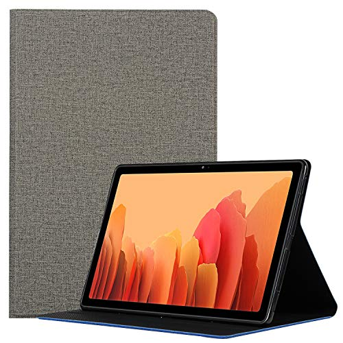 Hfly Suitable for Samsung Galaxy Tab A7 10.4 Case SM-T500/ T505, [Slim Fit Design] Multi-Angle Viewing Stand Premium Flip Case for Galaxy Tab A7 10.4 (2020) [Gray]