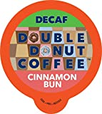 Cinnamon Bun Coffee Medium Roast Decaf Flavored Coffee Pods for Keurig K Cups Makers from Double Donut, 24 Capsules
