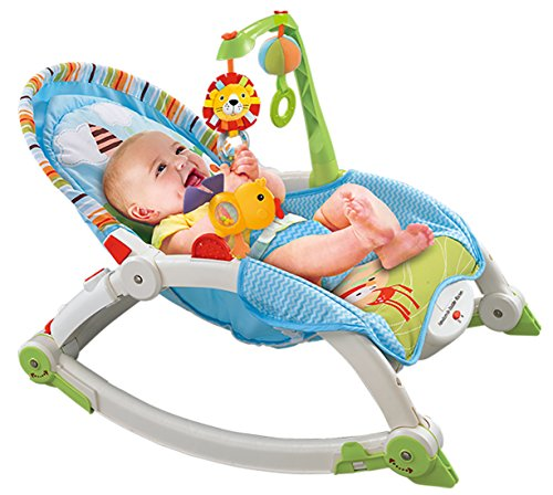Webby Baby's Plastic Portable Rocker (Multicolour)
