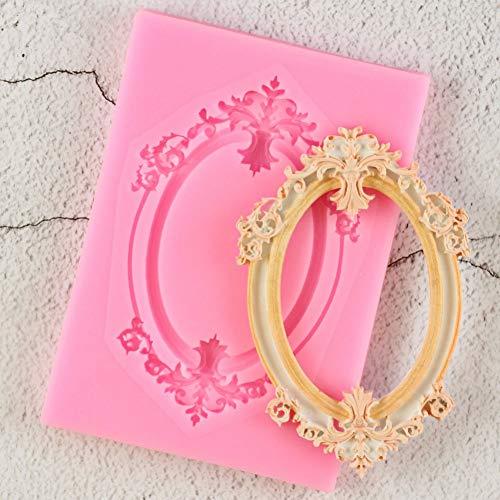 WANGWL 1Pcs Spiegel Bilderrahmen Modellierung 3D Silikonform Kuchen Dekoration Werkzeuge Schokoladenfondant Formen Ton Süßigkeiten Formen