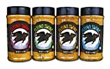 Flying Swine BBQ Rub Gift Set Pack of 4 x 11 Oz - Award Winning Grilling Spices And Rubs Gift Sets -...