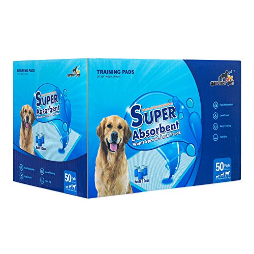 Gardner Pet Super-Absorbent 22 by 22 Inches Dog Training Pads - 2 Count of Pads