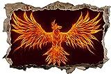 Phönix Vogel Flammen Wandtattoo Wandsticker Wandaufkleber D1079 Größe 70 cm x 110 cm