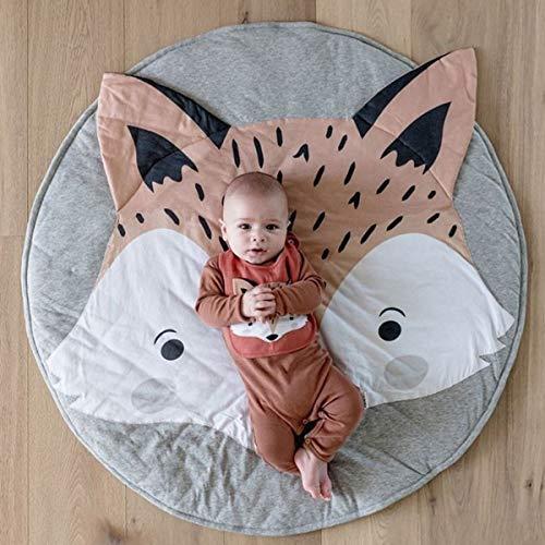 Coperta per Bambini in Cotone Tappetino Strisciante per Bambini Piano da Gioco Coperta Antiscivolo Rotonda Attività da Palestra Tappeto Tappeto Morbido Materassino per Arredamento