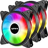 upHere 3-PIN 120mm Couleur/Rainbow LED Ventilateurs de Boitier PC Silencieux Pack...