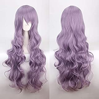 Girls anime Cos Wavy Wig Long Curly Cosplay Wig 80CM Role Playing Props