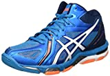 ASICS Gel-Volley Elite 3 MT, Chaussures de Volleyball Homme, Bleu (Blue Jewel/White/Hot Orange), 42 EU