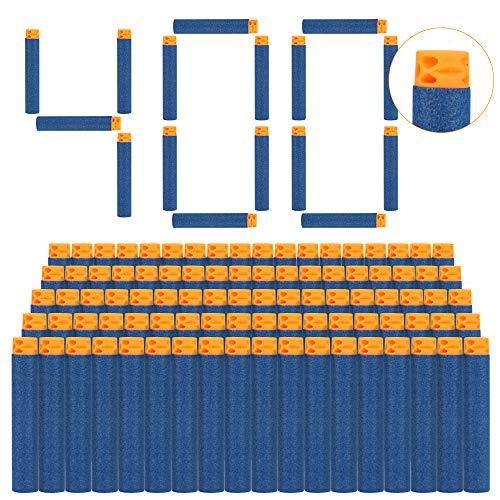 welltop 400 Stück 7,2 cm Refill Darts Foam Pfeile Ammo Pack für Nerf N-Strike Elite Series Nerf N Strike Blaster Kompatibler Pfeile Dart Bullets mit fünf Löchern