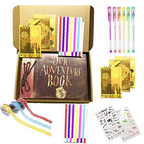 VWORK Our Adventure Book Scrapbook, Pixar Up Handmade DIY Couple Scrapbooking Album, Album for Your Travel Memory