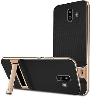 J6 Plus Case Kickstand Compatible with Samsung J6 Plus/J6 Prime Stand Holder j6plus Protective Skins [Dual Layer] [PC+TPU] j6prime Cover j 6 Matte 6.0 Inch 2018 (Gold)