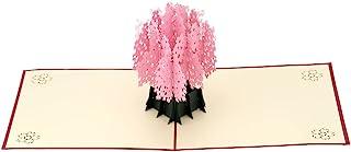 Creative 3D Handmade Pop Up Sakura Design Birthday Card Folding Kirigami Christmas Valentines's Day Postcard With Envelop