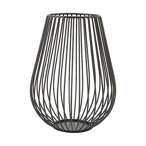 Point-Virgule Kerzenhalter aus Metall, Industrial Wohnzimmer deko, modern, Schwarz, 17 cm H 22,5 cm