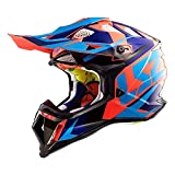 LS2 Helmets MX-Off Road Subverter Helmet (Nimble Black/Blue/Orange - Medium)