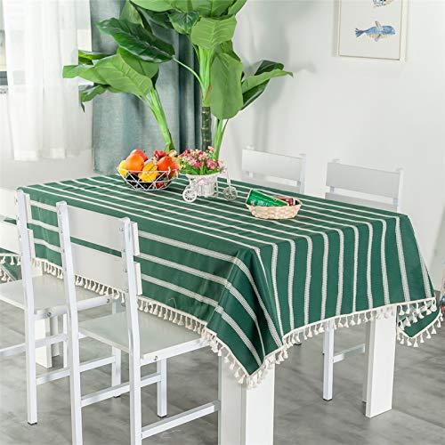 Mantel De Poliéster A Rayas De Color Sólido Y Mantel De Té Multicolor Opcional, Rectangular, Redondo, Cuadrado Mantel 130x100cm