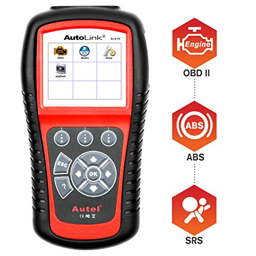 Autel AutoLink AL619 OBD2 Diagnosegerät Auto Code Reader CAN OBD Scanner Fehlercode Lesegerät für ABS/SRS Licht