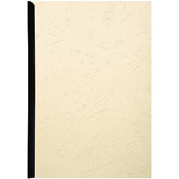 Exacompta 27800E un Paquet de 25 Couvertures Grain cuir 270g pour Reliure format 21x29 Blanc 7 cm
