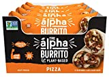 Alpha Foods Pizza Burrito | 5 oz (Pack of 12) | 100% Plant-Based Protein | Dairy Free | Frozen Burrito | Vegan Meat Substitute