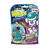 CRAZE- Bomba Infantil del Espacio con Juguete Regalo figurita Ventosa. Sales de Baño Espumosas para Bañera o Piscina de Niños con Olor Sorpresa, Multicolor (23051)