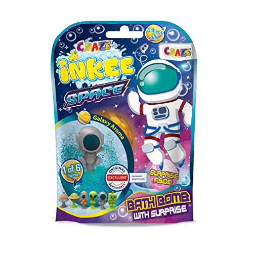 CRAZE Inkee Space 23051 Magic Scent Bath Ball with Suction Cup Surprise Bath Fun for Children