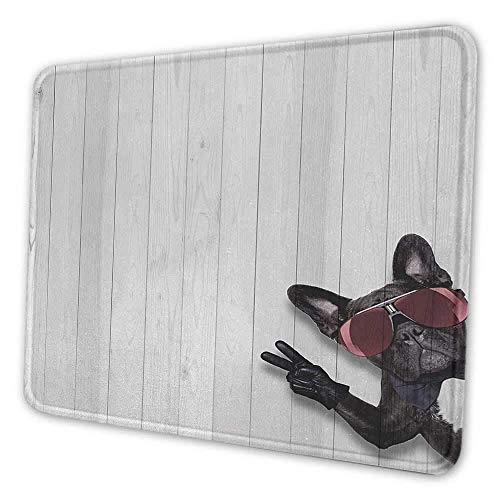 Alfombrilla de ratón personalizada con animales perro husky fresco con gafas de sol haciendo el signo de la paz con sus patas alfombrilla de ratón con estampado de ilustraciones para mujeres brillo gr