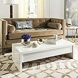 Safavieh Home Kinsley White Lift-Top Storage Coffee Table