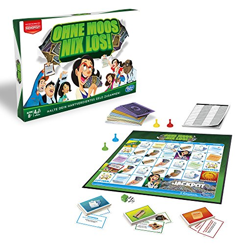Hasbro Gaming E0751100 Ohne Moos Nix Los, Familienspiel