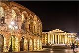Poster 30 x 20 cm: Arena und Palazzo Barbieri, Verona von