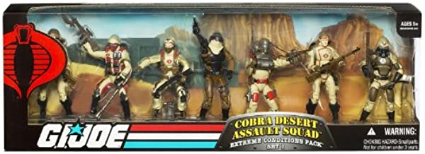 G.I. JOE COBRA DESERT ASSAULT SQUAD Extreme Conditions Pack * 7 ACTION FIGURES - BOX SET *