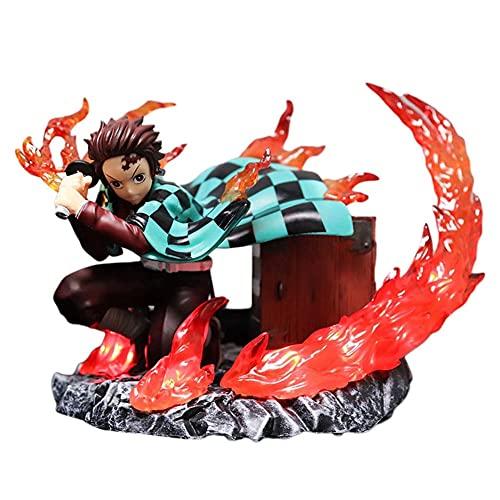 Weigela Demonio Slayer Tanjiro Kamado Figura de acción Estatua Modelo Muñeca Decoración de Escritorio Adornos Regalos