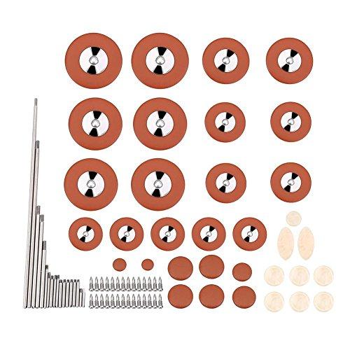 Tbest Kit de Reparación de Saxo Alto Piezas de Repuesto Herramientas Saxofón Almohadillas Tornillos Rodillos Sax Inlays Piezas Reemplazo Instrumento Accesorio