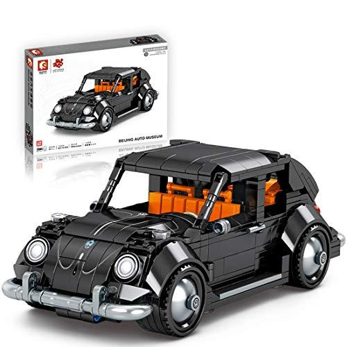 Technik - Kit de bloques de construcción retro para autobús, modelo de autobús, 777 piezas de juguete de construcción compatible con Lego Technic (684 piezas de coche de escarabajo)