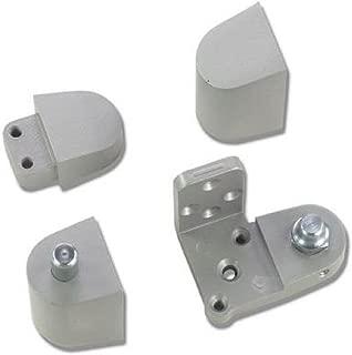 US Aluminum Style Storefront Door Pivot Hinge Set in Aluminum Finish - Choose Handing (Left Hand)