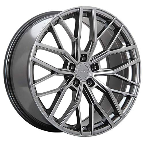 Ruffino Teknik ALLOY WHEEL/RIM Graphite SIZE 19x8.5 INCH BOLT PATTERN 5x112 OFFSET 45 CENTER BORE 66.6 CENTER CAPS INCLUDED, LUG NUTS NOT INCLUDED (RIM PRICED INDIVIDUALLY)