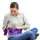 Nature Creation- Menstrual Cramps Reliever – Microwavable & Reusable Abdominal/Back Pain Relief (Purple Flowers)