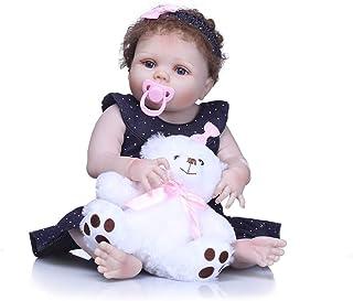 "Reborn Baby Doll, 100% Handmade Full Soft Silicone 22"" /55cm Lifelike Newborn Doll for Children-RB133"