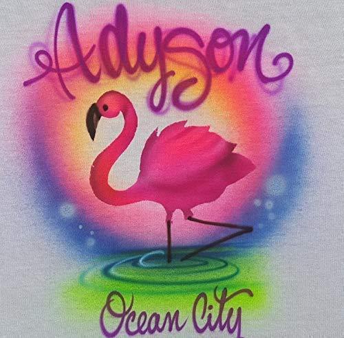 Custom Airbrush Flamingo - Hoodie Sweatshirt Perso Direct store Youth Dealing full price reduction Adult