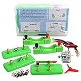 Jackallo Kids Kit de Motor de Circuito eléctrico Educativo DIY Kits de Aprendizaje de proyectos de Ciencia para niños