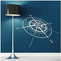 ウォールステッカー ウォールデコ壁紙シール 方位磁針 デカールリビング寝室子供部屋キッチン飾りステッカーアートポスター77x57CM