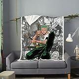 WFQTT Manta de franela de One Piece, impresión 3D, cálida, supersuave, para niños y adultos, manta de felpa para cama/sofá/silla (1,60 x 50 pulgadas)