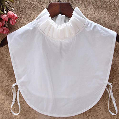 Collar con bordado en forma de corazón para mujer, kraagje NEP dames de algodón de gasa, media camisa, accesorios de túnica, blusa blanca y negra, falsa Col, como se muestra en la imagen