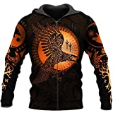 Viking Hoodies, Tattoo 3D Überall Hinüber Gedruckt Unisex Deluxe Hoodie Männer Sweatshirt Zip...